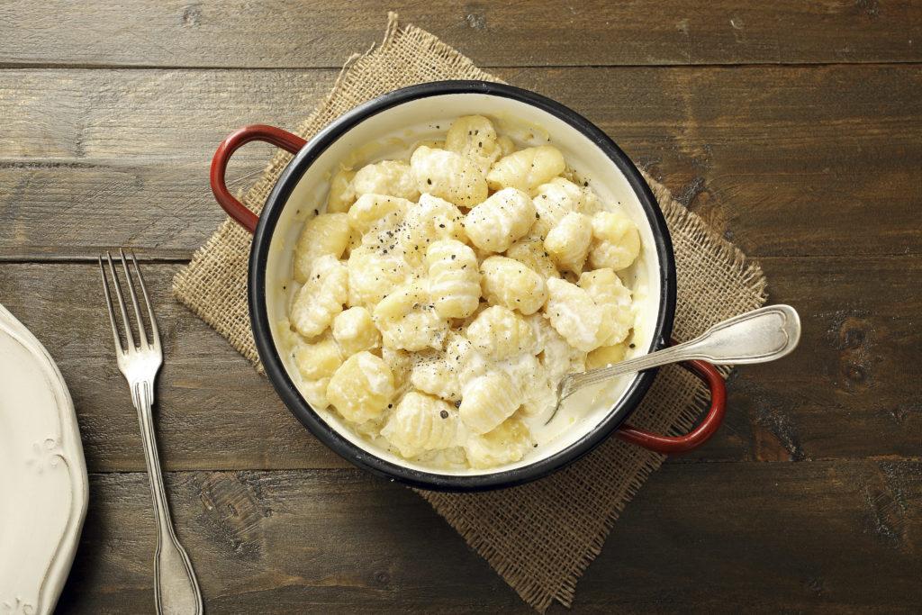 Parmesangnocchi aus Nudelteig