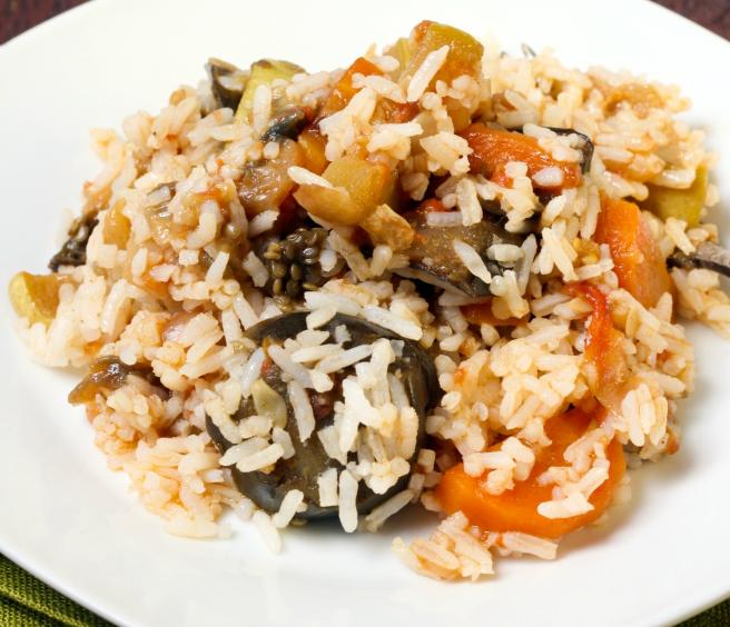Tomaten-Zucchini-Auflauf mit Reis