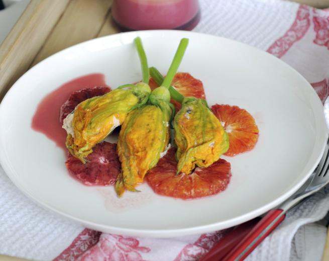 Frittierte Zucchiniblüten