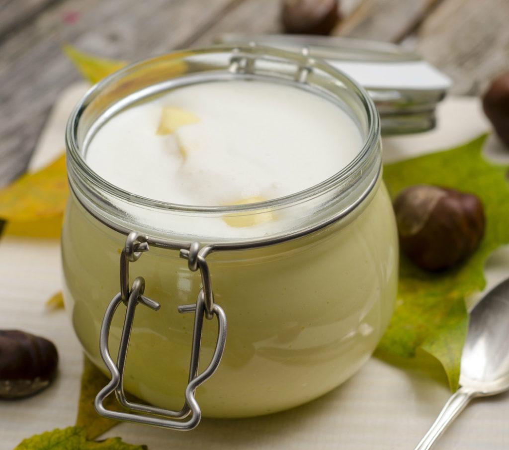 Maronencreme mit Sahne - Monte bianco