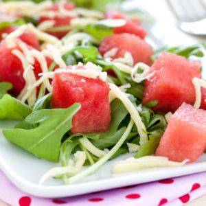 Rucola-Melonen-Salat