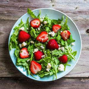 Erdbeersalat mit Rucola