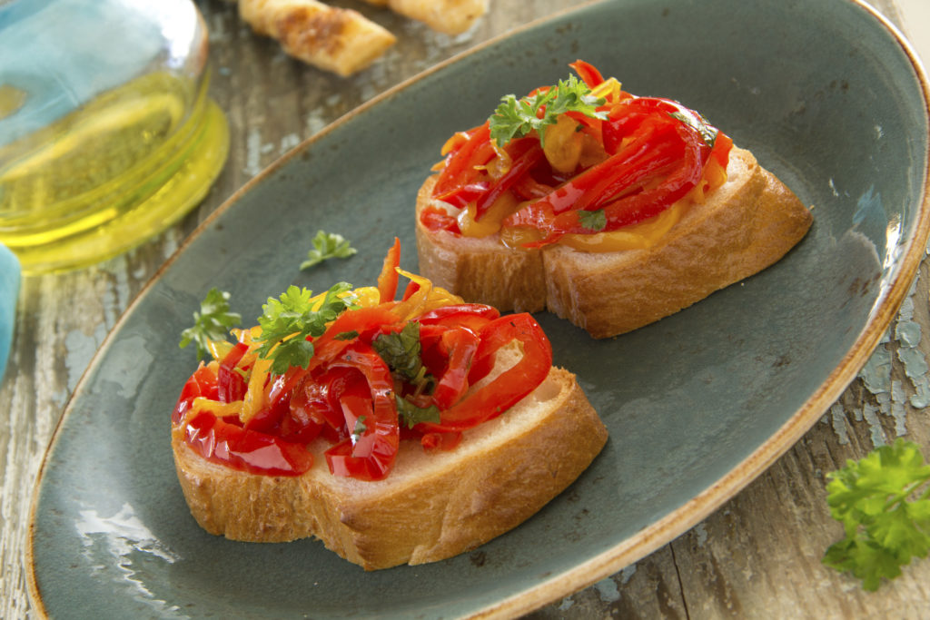 Bruschetta mit Paprika