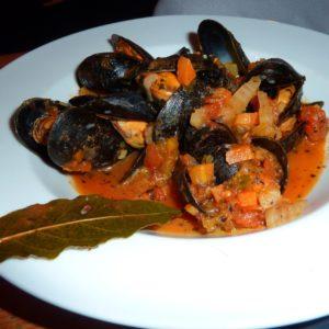 Muscheln in Tomaten-Knoblauch-Soße