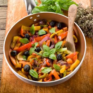 Paprika-Zwiebel-Peperonata