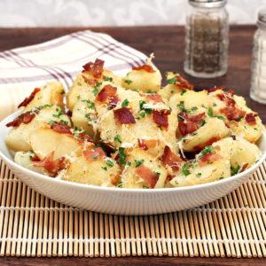 Veredelte Parmesan-Speck-Kartoffeln