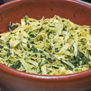 Tagliatelle mit Spinat