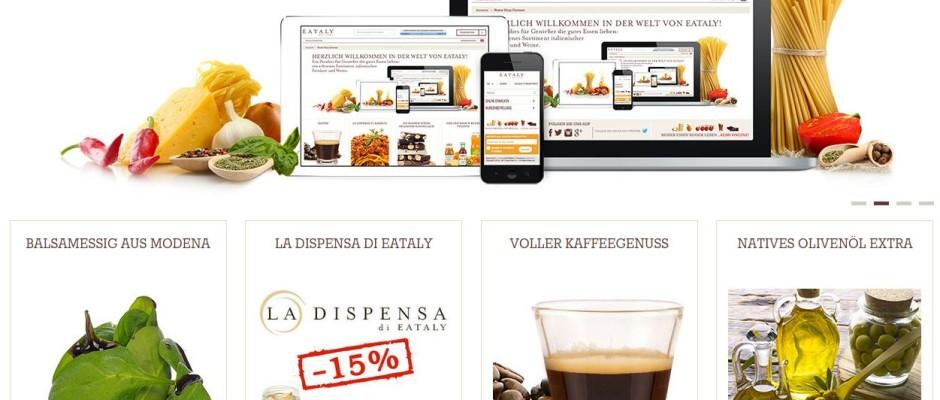 Unter www.eataly.net ist der Online-Shop des italienischen Spezialitätenhandels nun auch auf Deutsch zu erreichen.