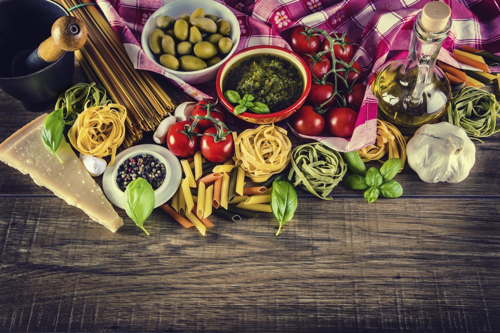 Weitere Lebensmittel der mediterranen Küche - pastaweb.de