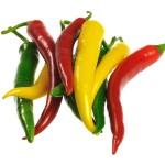 Peperoni gehören zur Gattung der Paprika. Die kleinen Paprikaschoten heißen in Deutschland Peperoni.