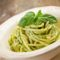 Bucatini mit Bohnen und Pesto