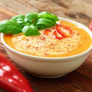 Cremige Paprikasuppe – Zuppa di peperoni
