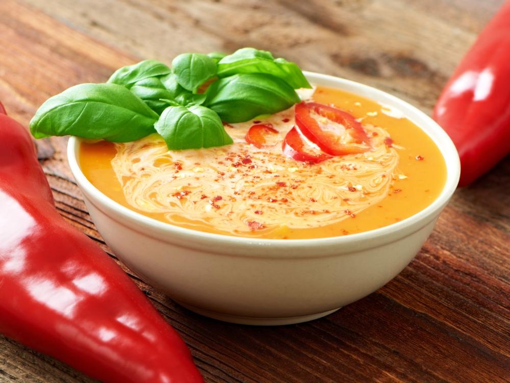 Cremige Paprikasuppe - Zuppa di peperoni