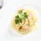 Lachs-Sahnesoße zu Spaghetti