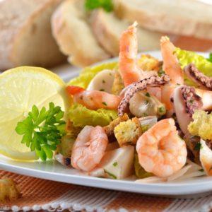 Meeresfrüchtesalat – Insalata di mare