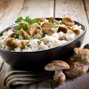 Risotto mit Shii-take-Pilzen