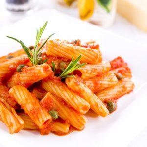 Scharfe Tomatensoße – Rigatoni mafiosi