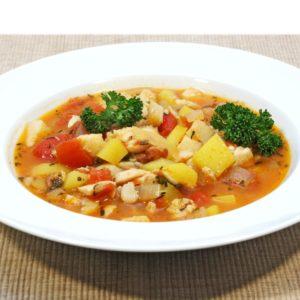 Schnelle Fischsuppe mit Safran – Zuppa di pesce