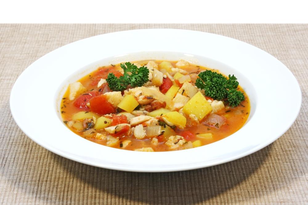 Schnelle Fischsuppe mit Safran - Zuppa di pesce
