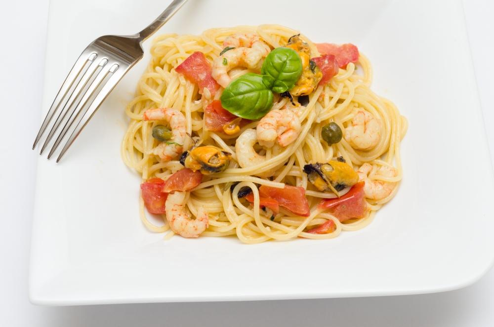Schnelle Meeresfrüchtesoße zu Spaghetti