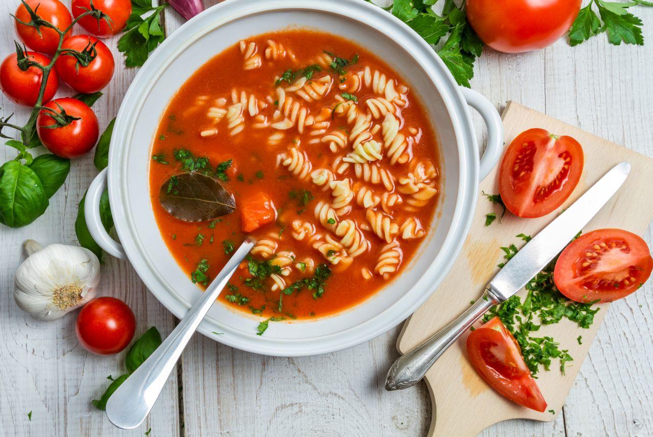 tomatensuppe schnell gemacht mit