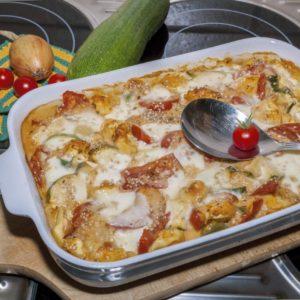 Tortellini-Zucchini-Auflauf