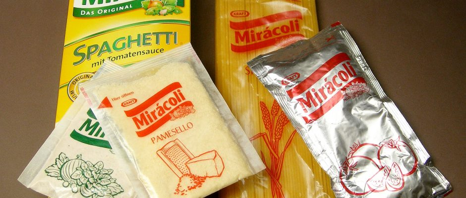 Jeder Pasta-Liebhaber kennt die Marke Mirácoli. Das Unternehmen dieser Marke hat nun einen fragwürdigen Preis ergattern können. Foto: By Rainer Z ... (Own work) [GFDL (http://www.gnu.org/copyleft/fdl.html) or CC BY-SA 3.0 (http://creativecommons.org/licenses/by-sa/3.0)], via Wikimedia Commons