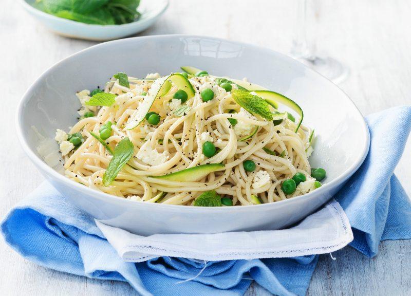 Spaghetti mit grünem Gemüse
