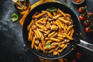 Vor allem Vegetarier können bei vielen Pasta-Gerichten mit Fleisch stattdessen auf Pilze zurückgreifen.